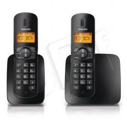 TELEFON BEZPRZEWODOWY DECT PHILIPS CD1802B/53 ( 2 słuchawki )...