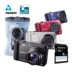 APARAT SONY DSC-H70 CZARNY (OBUDOWA PODWODNA I 4GB)...