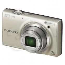 APARAT NIKON COOLPIX S6150 SREBRNY + KARTA SD 8GB...