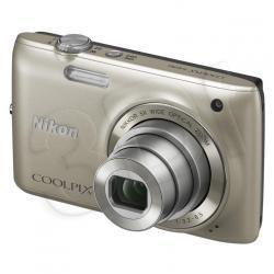 APARAT NIKON COOLPIX S4150 SREBRNY + KARTA SD 8GB...