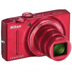 APARAT NIKON COOLPIX S8200 CZERWONY + KARTA SD 8GB...
