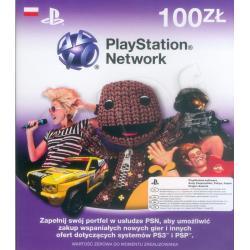 Karta Playstation Network 100zł...