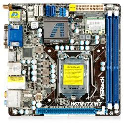 ASROCK H67M-ITX/HT Intel H67 LGA 1155 (PCX/VGA/DZW/GLAN/SATA3/USB3/RAID/DDR3) Mini-ITX...