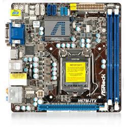 ASROCK H67M-ITX Intel H67 LGA 1155 (PCX/VGA/DZW/GLAN/SATA3/USB3/RAID/DDR3) Mini-ITX...