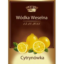Etykiety na wódkę Cytrynówka