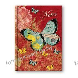 Notes Motyl notatnik w linie zgrabny poręczny nieduży Kalendarze książkowe