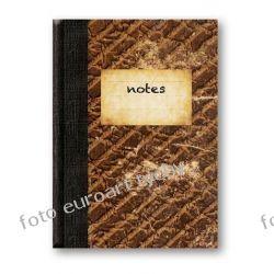 Notes Retro notatnik w linie zgrabny poręczny nieduży Kalendarze ścienne