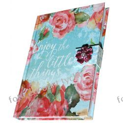 Pamiętnik przepięknej urody w złoconej oprawie formatu A5 Różany Kalendarze ścienne