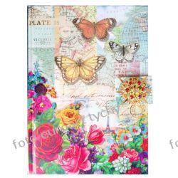 Rajski Ogród pamiętnik w złoconej oprawie  Kalendarze książkowe