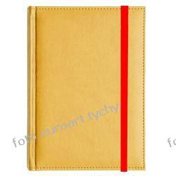 Notes A5 z żółtej ekoskóry notatnik zamykany gumką Kalendarze ścienne