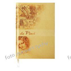 Notatnik Da Vinci notes A5 w kratkę w ekoskórze Pozostałe