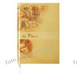 Notatnik Da Vinci notes A6 w kratkę w ekoskórze Pozostałe