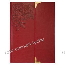 Notes A5 z ekoskóry bordo tłoczony notatnik zamykany na magnesy Kalendarze książkowe