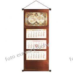 2021 extra kalendarz trójdzielny ścienny brązowy Kalendarze książkowe