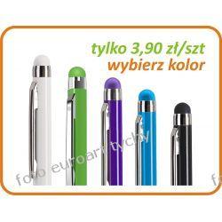 Kolorowe długopisy z gumką do smartfonu tabletu Touch Pen Pozostałe