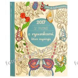 2017 Kalendarz A5 tygodniowy kolorowanka inspirująca Kalendarze książkowe