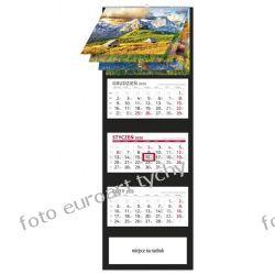 2020 kalendarz TATRY trójdzielny spiralowane 12 plansz Kalendarze książkowe
