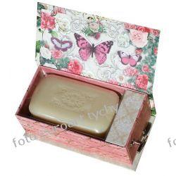 Grająca Lux szkatułka z pozytywką i mydłem Akcesoria