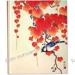 Ptak i czerwony liść notatnik Pauper Press pamiętnik notes  Pozostałe