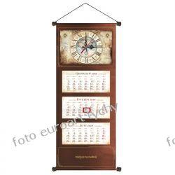 2020 extra kalendarz trójdzielny z zegarem czekoladowy Kalendarze książkowe