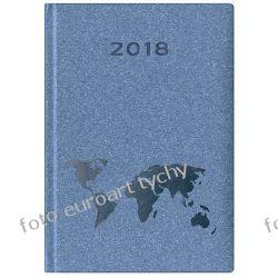 2018 kalendarz książkowy terminarz A5 dzienny Glob Pozostałe