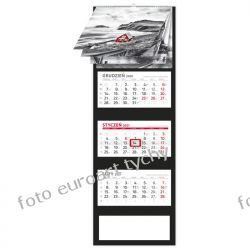 2021 kalendarz 5 ELEMENT trójdzielny spiralowane 12 plansz Kalendarze książkowe