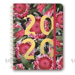 Terminarz A5 tygodniowy z gumką kalendarz 2020 Orange Kalendarze książkowe