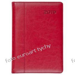 Terminarz A4 dzienny obszerny kalendarz z registrami czerwony 2019 Kalendarze książkowe