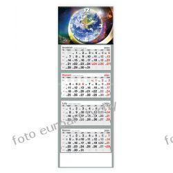 2021 kalendarz czterodzielny z zegarem Kalendarze książkowe