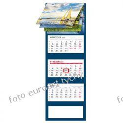2021 kalendarz trójdzielny RZEKI I JEZIORA spiralowane 12 plansz Kalendarze książkowe