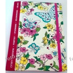 Kolorowanka notes A5 antystres notatnik z gumką Kalendarze książkowe