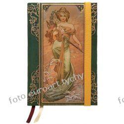 Notes Mucha Bouquet notatnik B6 z gumką pamiętnik Kalendarze książkowe