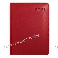 2021 kalendarz Lux kieszonkowy czerwony Kalendarze książkowe