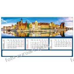 2021 kalendarz trójdzielny panoramiczny GDAŃSK Kalendarze ścienne