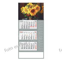2021 kalendarz trójdzielny duży Słoneczniki Kalendarze ścienne