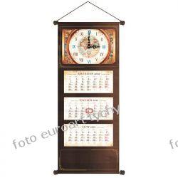 2021 extra kalendarz trójdzielny z zegarem czekoladowy Długopisy