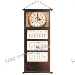 2021 VIP kalendarz trójdzielny z zegarem czekoladowy Kalendarze ścienne