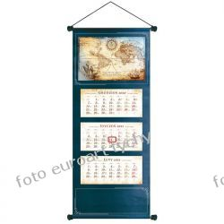 2021 kalendarz trójdzielny ścienny Mapa Świata Kalendarze książkowe