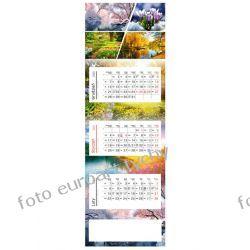 2021 kalendarz trójdzielny panoramiczny 4 Pory Roku Kalendarze książkowe
