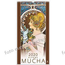 2020 Alfons Mucha kalendarz ścienny 13 plansz Książki i Komiksy