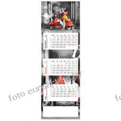 2021 kalendarz trójdzielny panoramiczny Skuter Kalendarze ścienne