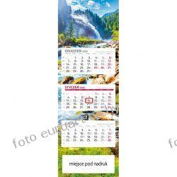 2021 kalendarz trójdzielny panoramiczny Wodospad Długopisy