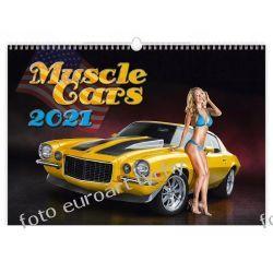 2021 Kalendarz Muscle cars girls kalendarz z autami Kalendarze książkowe