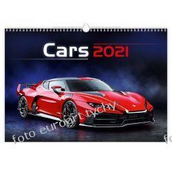 2021 kalendarz Cars 13-planszowy spiralowany Kalendarze ścienne