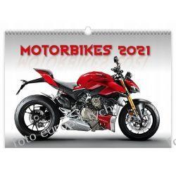 2021 kalendarz Motorbikes 13-planszowy spiralowany Kalendarze książkowe