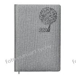 Kalendarz książkowy Drzewo szary terminarz A5 dzienny 2021 Kalendarze książkowe