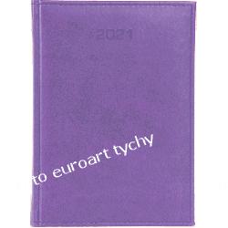 2021 terminarz książkowy B6 dzienny kalendarz fioletowy Kalendarze ścienne