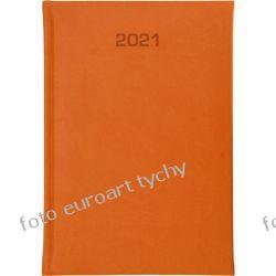 2021 terminarz książkowy B6 dzienny kalendarz pomarańczowy Kalendarze ścienne