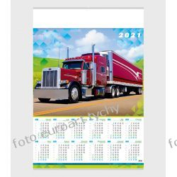 2021 kalendarz Truck ścienny B1 Gadżety i akcesoria