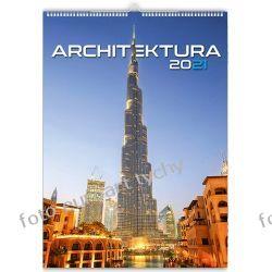 2021 kalendarz Architektura 13-planszowy spiralowany Gadżety i akcesoria